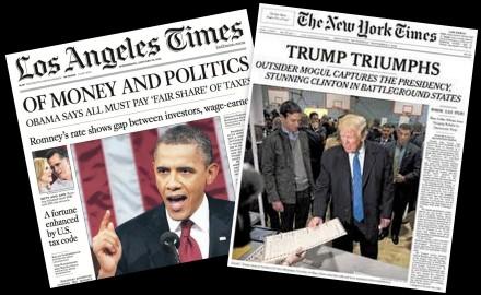 LA Times NY Times Montage